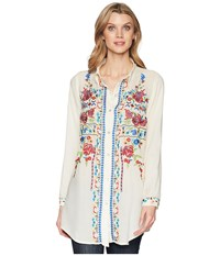 Scully Bailee Sexy Fabric Embroidered Blouse Mushroom Clothing Gray