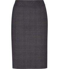 Austin Reed Signature Blue Check Pencil Skirt