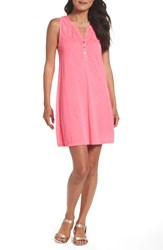 Lilly Pulitzerr Women's Pulitzer 'Essie' Cotton And Modal A Line Dress Pink Fusion