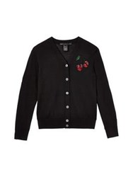Marc By Marc Jacobs Embroidered Fruits Cardigan Black