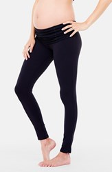 Ingrid And Isabelr Women's Isabel 'Active' Maternity Leggings With Crossover Panel Jet Black