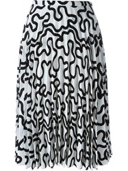 J.W.Anderson J.W. Anderson Printed Pleated Skirt White