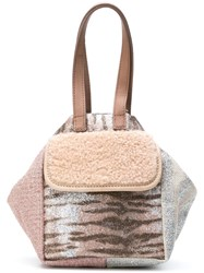 Carmina Campus Metallic Mini Bucket Bag