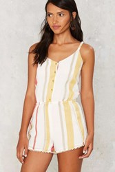 Tulum Striped Romper Yellow