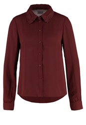 Vero Moda Vmlennie Shirt Decadent Chocolate Dark Brown