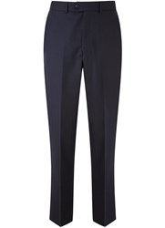 Austin Reed Herringbone Classic Fit Suit Trousers Navy
