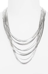 Nordstrom Women's Snake Chain Necklace Rhodium