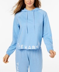 Jessica Simpson The Warm Up Burnout French Terry Hoodie Coastal Lights