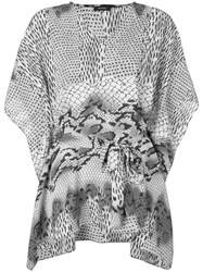 Natori Printed Kaftan Blouse Grey