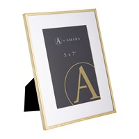 Amara Gold Plated Steel Photo Frame 5X7