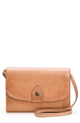 Frye Melissa Leather Crossbody Bag Red Dusty Rose