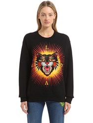 Gucci Angry Cat Patch Cotton Sweatshirt