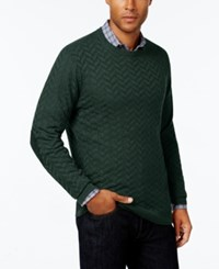 Tasso Elba Men's Big And Tall Chevron Sweater Only At Macy's Nocturnal Green