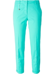 Incotex Slim Fit Cropped Trousers Blue