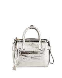 Nancy Gonzalez Cristy Small Metallic Satchel Bag Pewter