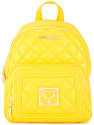 Love Moschino Quilted Backpack Yellow Orange