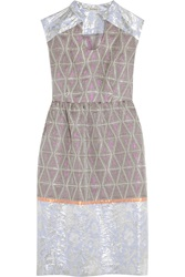 Suno Jacquard And Metallic Brocade Dress