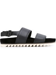 Lanvin Double Strap Sandals Black