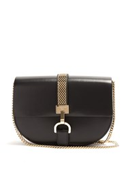 Lanvin Lien Leather Cross Body Bag Black White