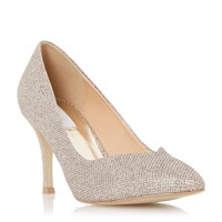 Untold Brookel Sweetheart Cut Court Shoes Gold