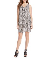 Karen Kane Diamond Print Multi Layer Dress