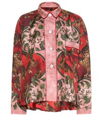 F.R.S For Restless Sleepers Ipno Printed Silk Pajama Top Red
