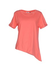 Only Topwear T Shirts Women Coral
