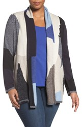 Nic Zoe Plus Size Women's Overlands Mixed Knit Cardigan