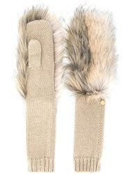 Urbancode Long Knitted Mittens Neutrals