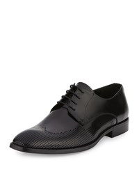 Kenneth Cole Big Ticket Perforated Leather Oxford Black