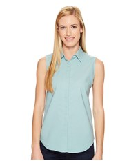 United By Blue Sleeveless Sierra Shirt Teal Blue