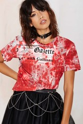 Nasty Gal Vintage John Galliano What's News Graphic Tee