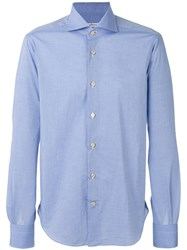 Kiton Longsleeve Button Up Shirt Blue