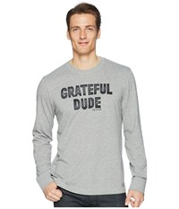 Life Is Good Grateful Dude Long Sleeve Crusher Tee Heather Gray T Shirt