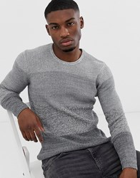 Only And Sons Stripped Jumper In Grey