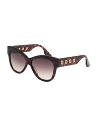 Mcq By Alexander Mcqueen 54Mm Tortoise Butterfly Sunglasses Brown