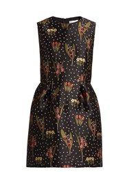 Red Valentino Blooming Garden Jacquard Dress Black Multi