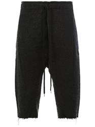 Individual Sentiments Drawstring Cropped Trousers Black