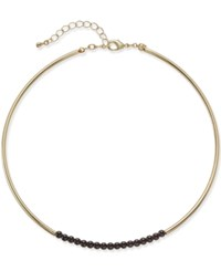 Bar Iii Gold Tone Jet Bead Choker Necklace Only At Macy's
