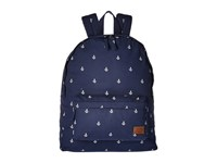 Roxy Sugar Baby Canvas Backpack Dress Blue Printed Anchor Bags Navy