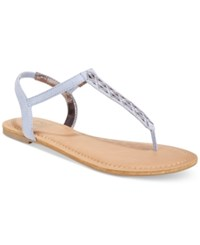 Material Girl Skylar Flat Sandals Only At Macy's Women's Shoes Powder Blue