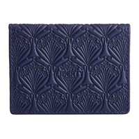 Liberty London Embossed Travel Card Holder Navy