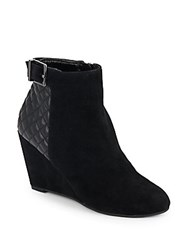 Bcbgeneration Wright Leather Wedge Booties Black