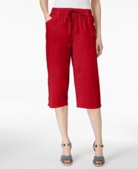 Karen Scott Drawstring Cropped Pants Only At Macy's New Red Amore