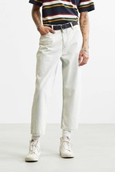 Bdg Super Acid Wash Straight Cropped Jean White
