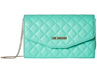 Love Moschino Quilted Evening Bag Green Handbags