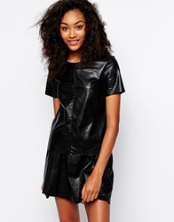 Vero Moda Wet Look Shell Top Black