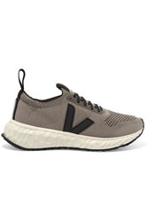 Rick Owens Veja Vegan Leather Trimmed V Knit Sneakers Taupe