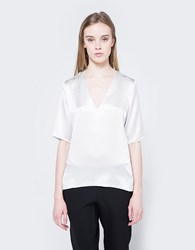 Matin Classic Vneck Top In Silver