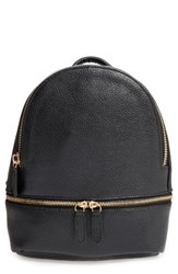 Girly Faux Leather Mini Zip Backpack